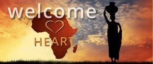 Africa Heart Welcome Graphic