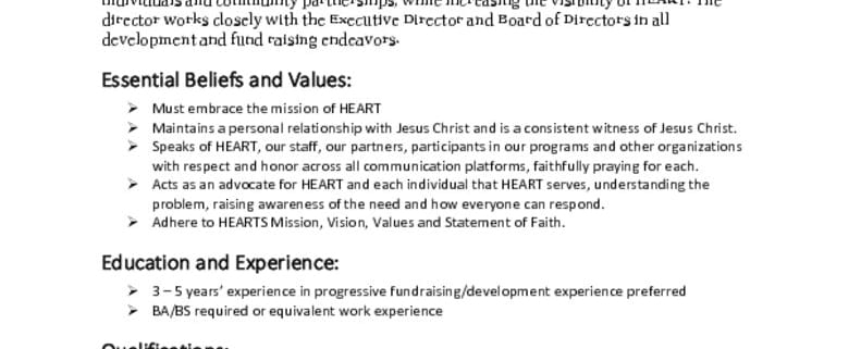 thumbnail of Development Director job posting